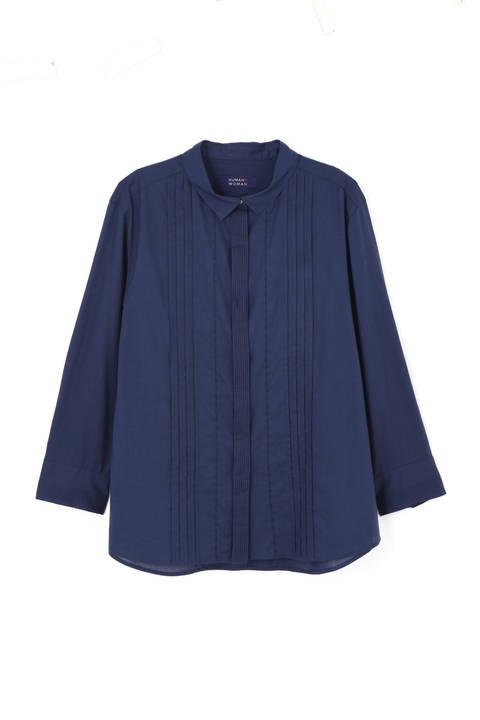 コットンローンピンタックシャツ