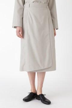 ピンドットジャガードラップ風スカート