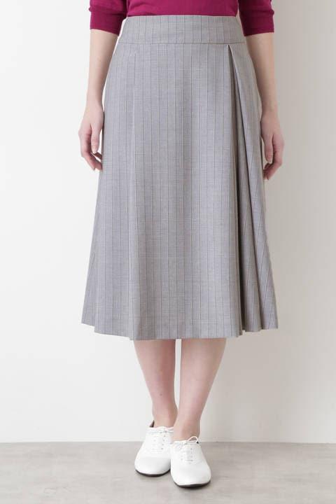 ダブルタックアシンメトリースカート