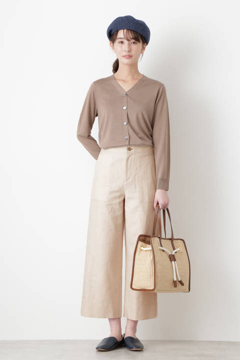 ≪Japan couture≫強撚ヘリンボーンパンツ
