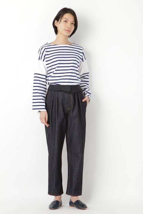 [WEB限定]T.yamai paris デニムテーパードパンツ