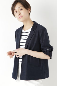 麻/ポリエステルジャージージャケット