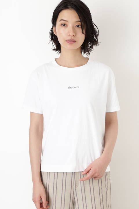 クルーネックロゴロングTシャツ