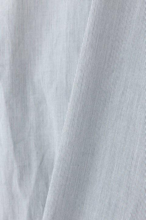 コットンライトサテン/ストライプシフォンブラウス