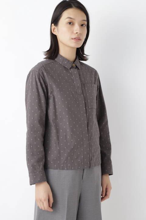 ≪Japan couture≫ ドットジャガードツイルブラウス