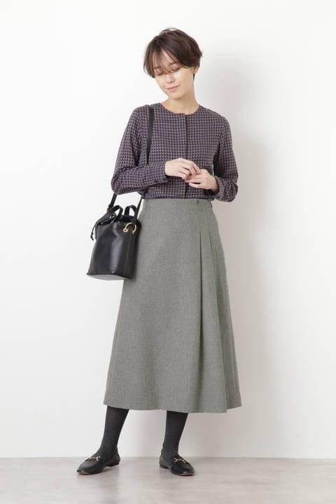 ヘリンボンツィードスカート