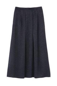 ランダムドットピーチサテンプリントスカート
