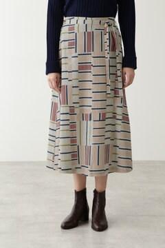 C/SIツイルプリントスカート