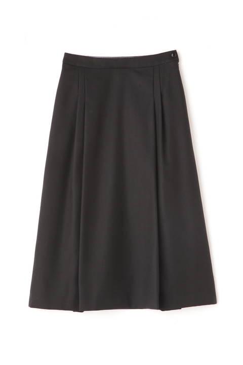 ウールサキソニーストレッチスカート