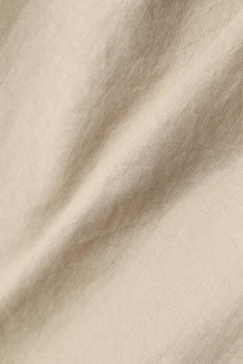 クールハウス綿麻オックスセミワイドパンツ