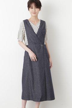反応染めデニムジャンパースカート