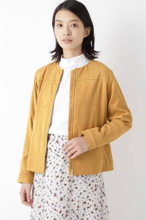 ピッグヘビーツイードノーカラージャケット