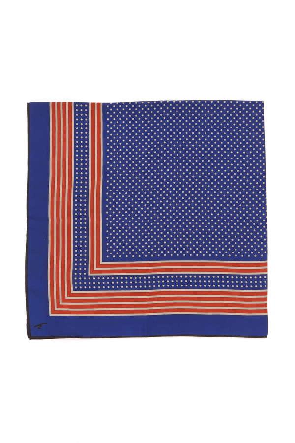オリジナルシルクスカーフドット柄スカーフ