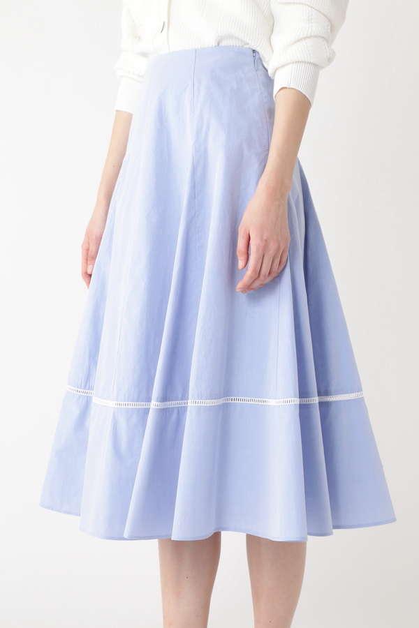 ハシゴレースフレアスカート