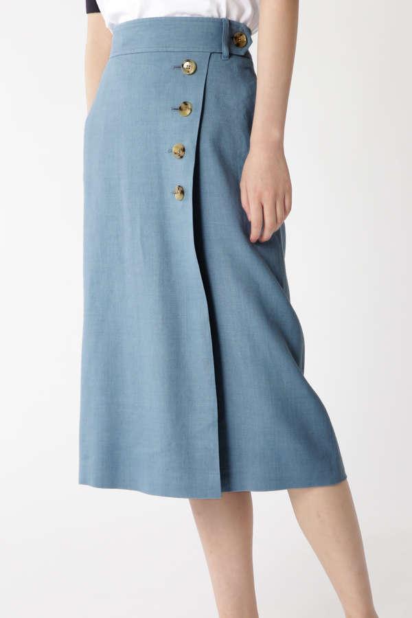 サイドボタンタイトスカート