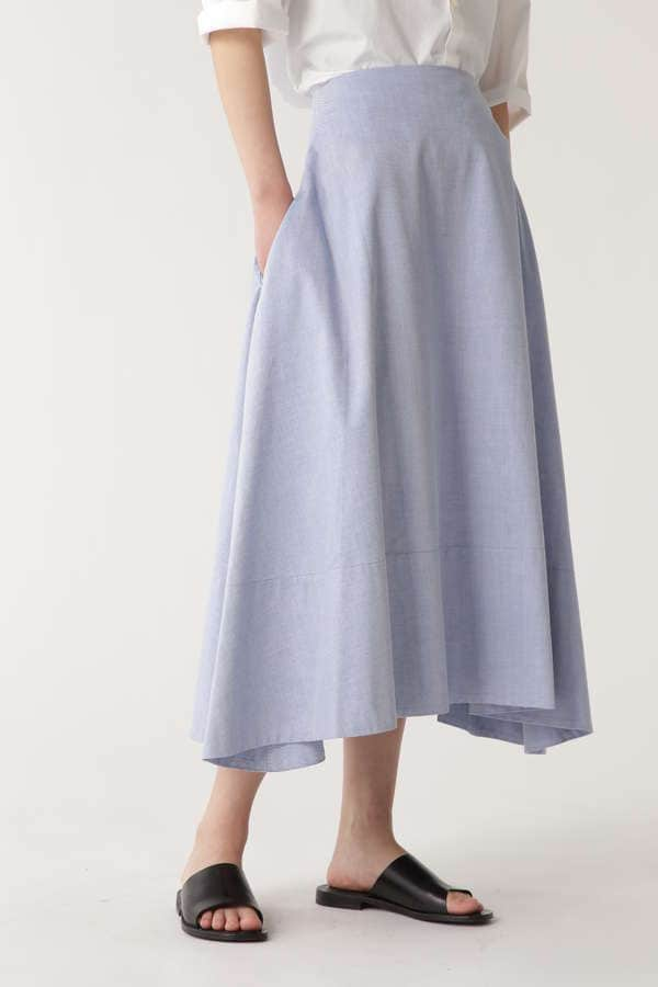 [madison blue]OX MI-MOLLET FLARE SKIRT