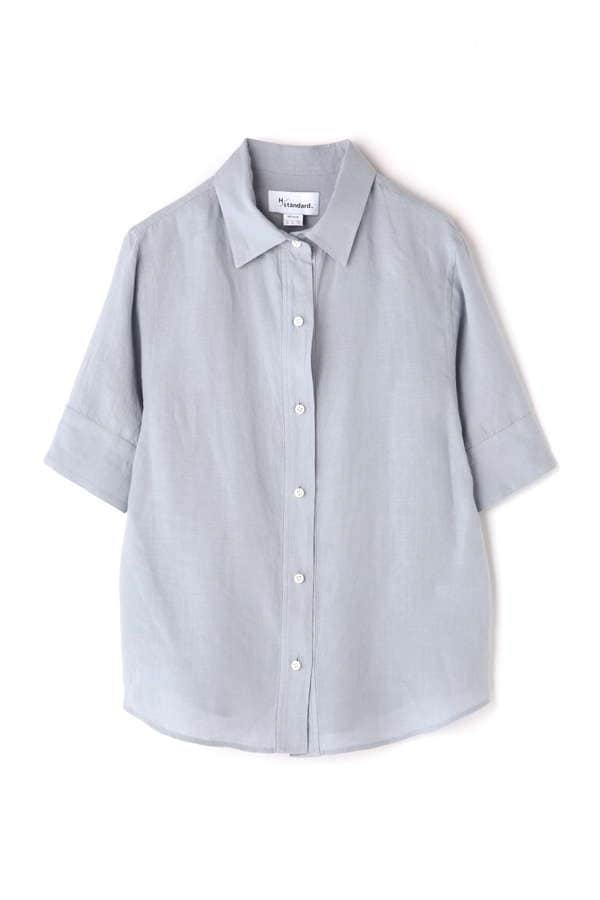 麻ハーフスリーブシャツ