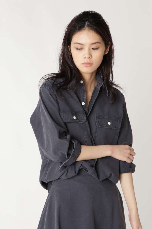 [madison blue]HAMPTON BACK SATIN SHIRT