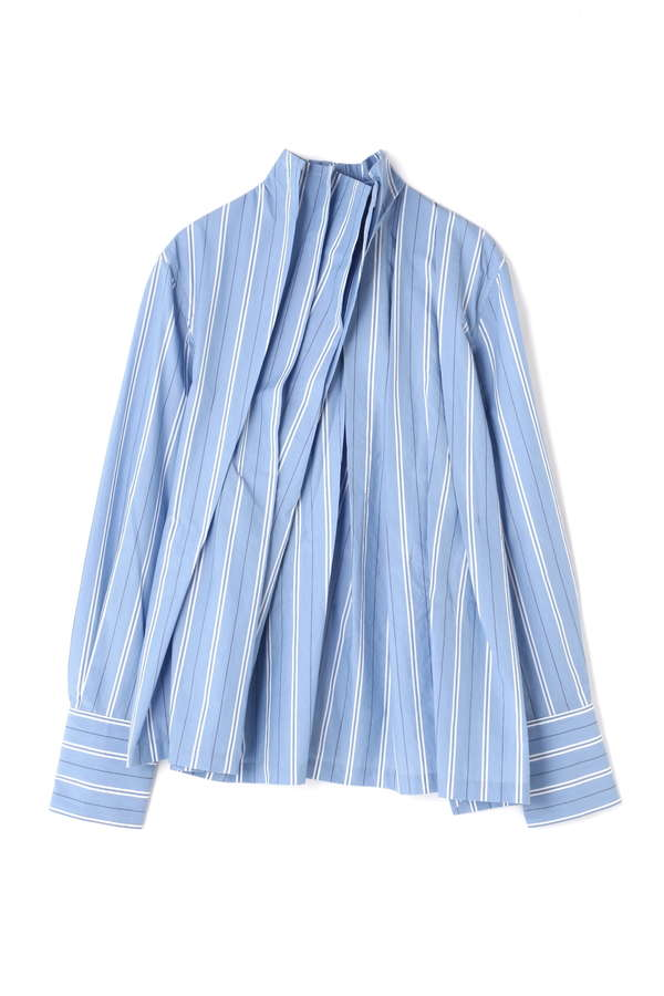 【別注】[THE KEIJI]TUCK GATHER STRIPE SHIRT