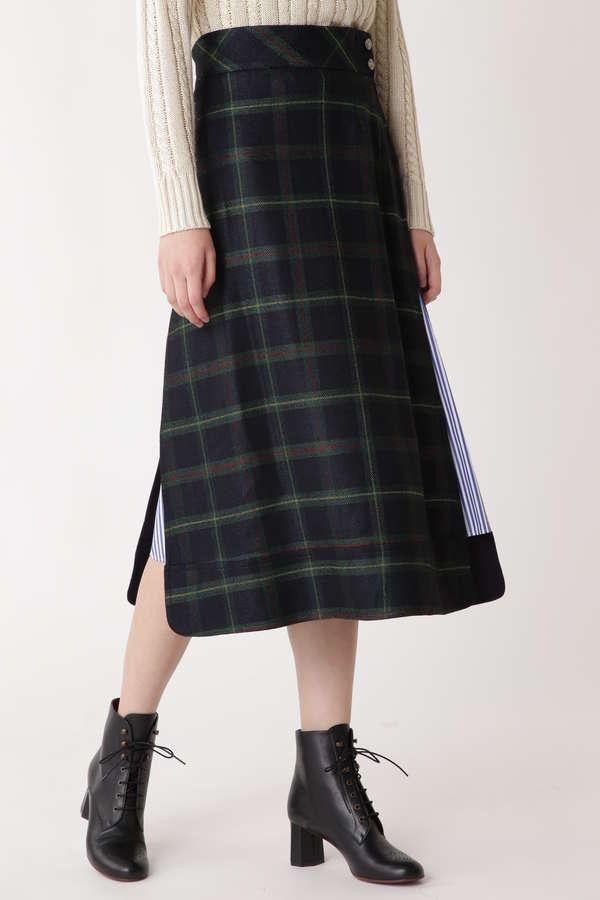 ブラックウォッチサイドスリットスカート