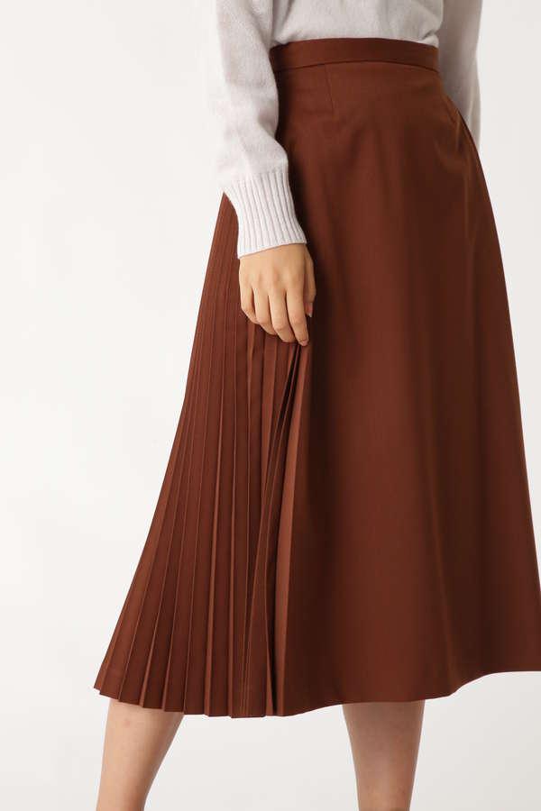 エクレールギャバサイドプリーツスカート
