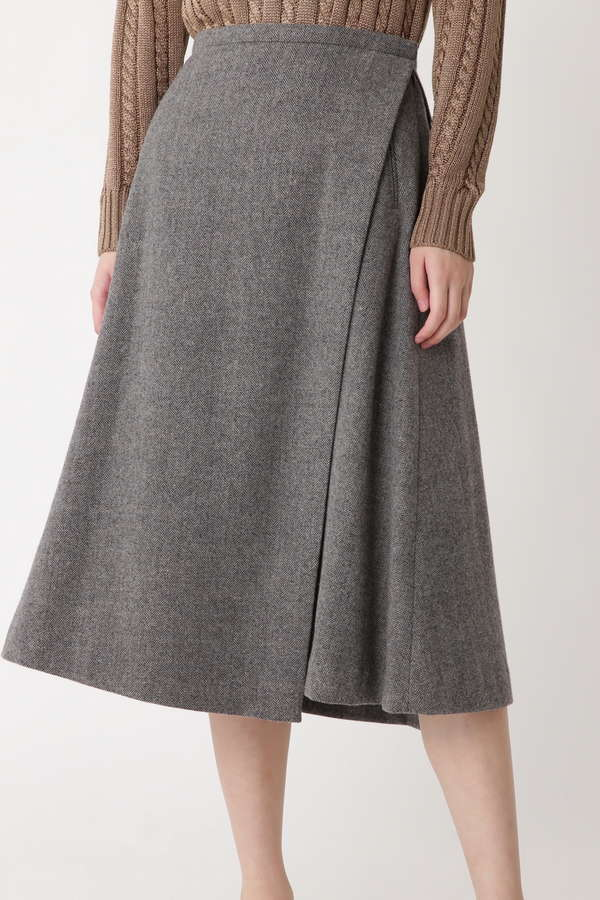 フレンチウールヘリンボーンスカート