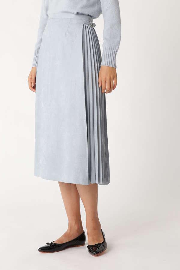 サイドプリーツスウェードスカート