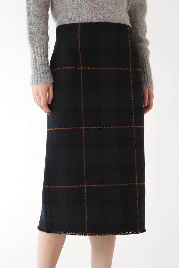 ブラックウォッチツイードタイトスカート