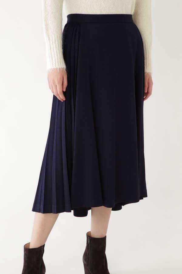 ウールジャージーサイドプリーツスカート
