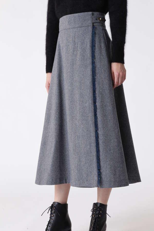 ロングフレアラップスカート