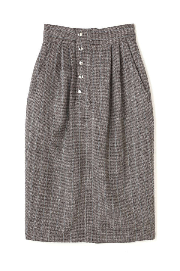 [ELIN]Houndtooth patch pocket skirt