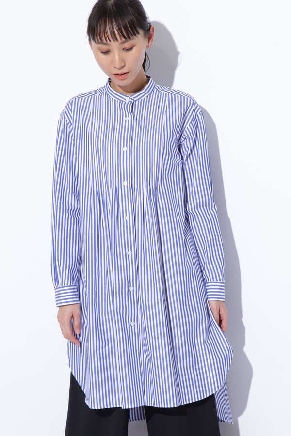 ピンタックロングシャツ