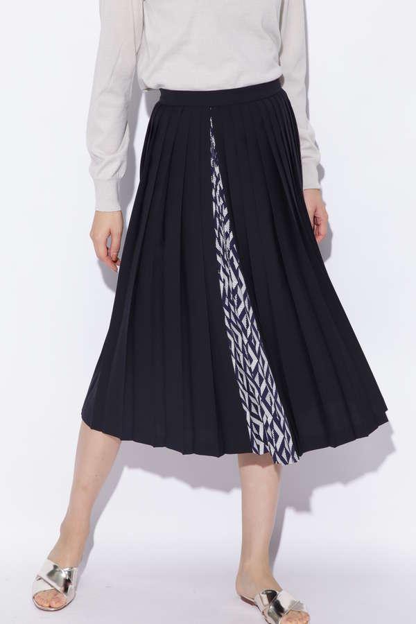 ツイルミックスプリーツスカート