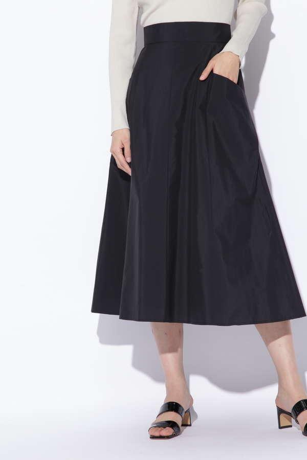 サイドポケットフレアスカート