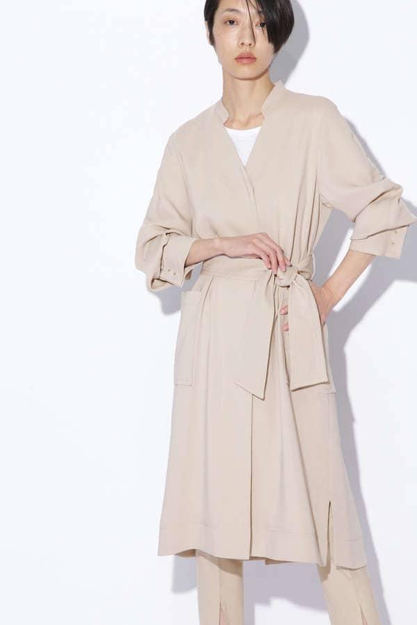 ベルテッドコートドレス