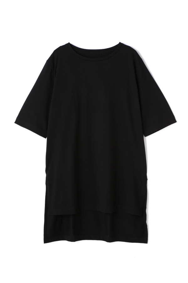 天竺半袖ロングTシャツ