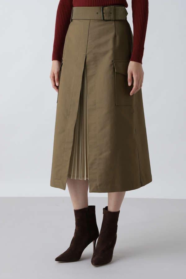 プリーツコンビカーゴスカート