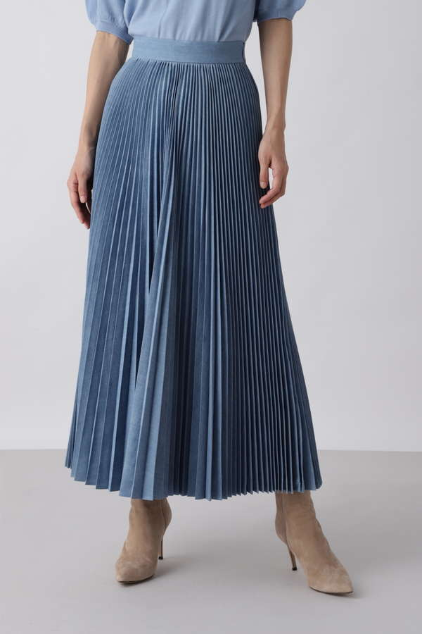 WOADBLUE ロングプリーツスカート