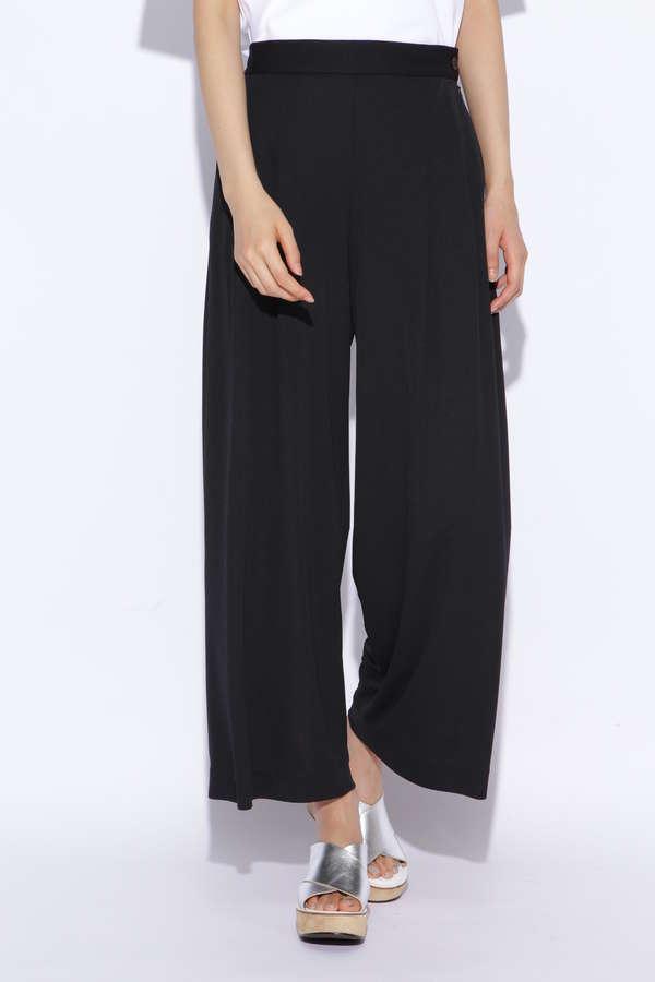 強撚スムース広幅パンツ