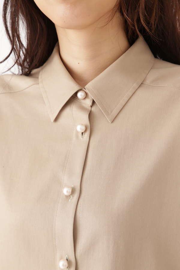 アディーパール釦付シャツ