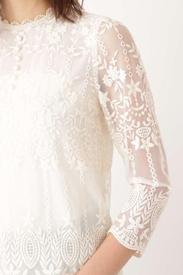 エリサレース刺繍ブラウス