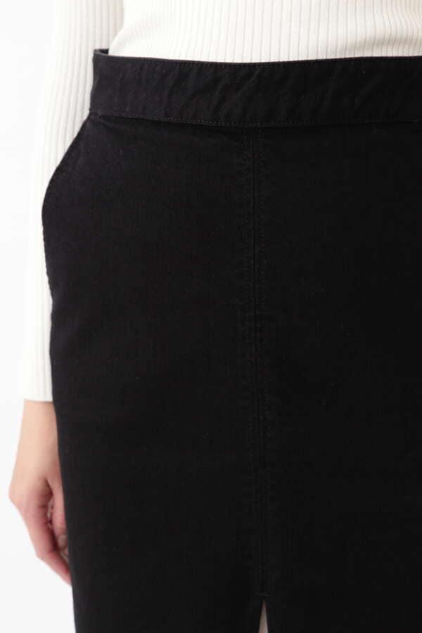 プリーツミックスデニムタイトスカート