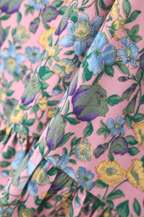 キャンディス小花柄ギャザースカート