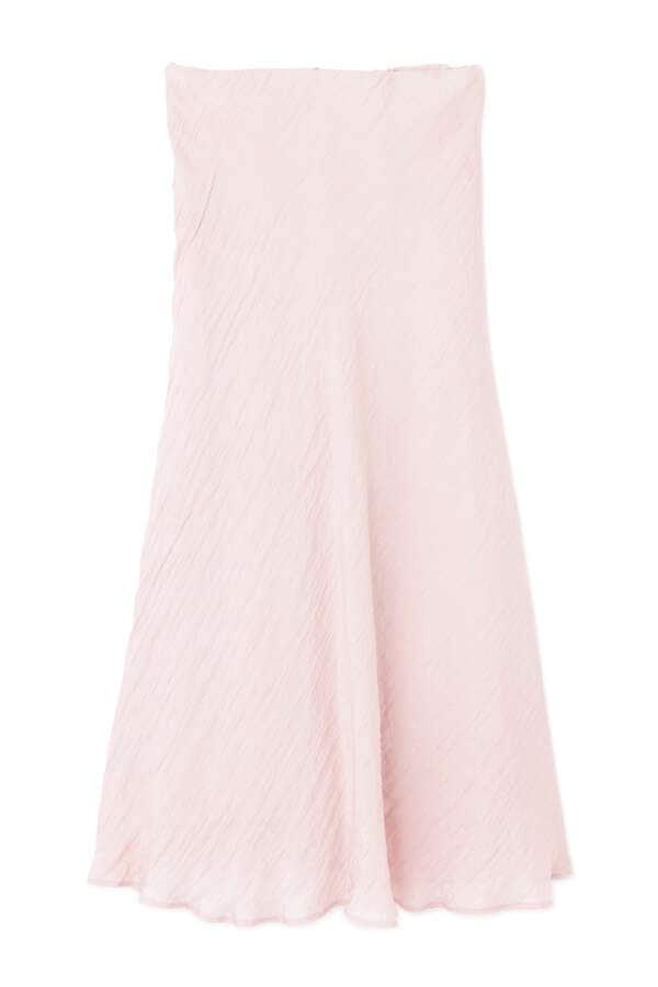 [限定]ワッシャーサテンナロースカート
