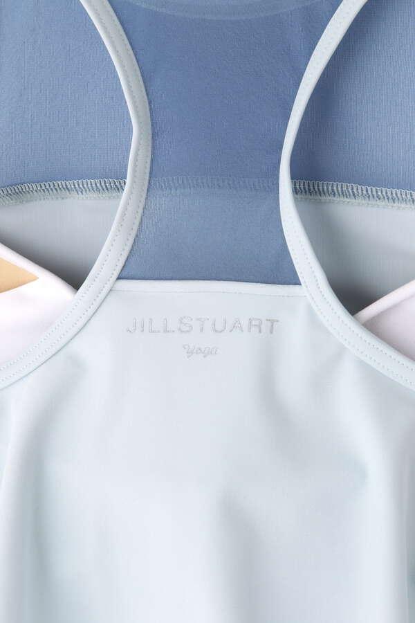 《JILLSTUART Yoga》フレアトップメッシュ切替ブラトップ