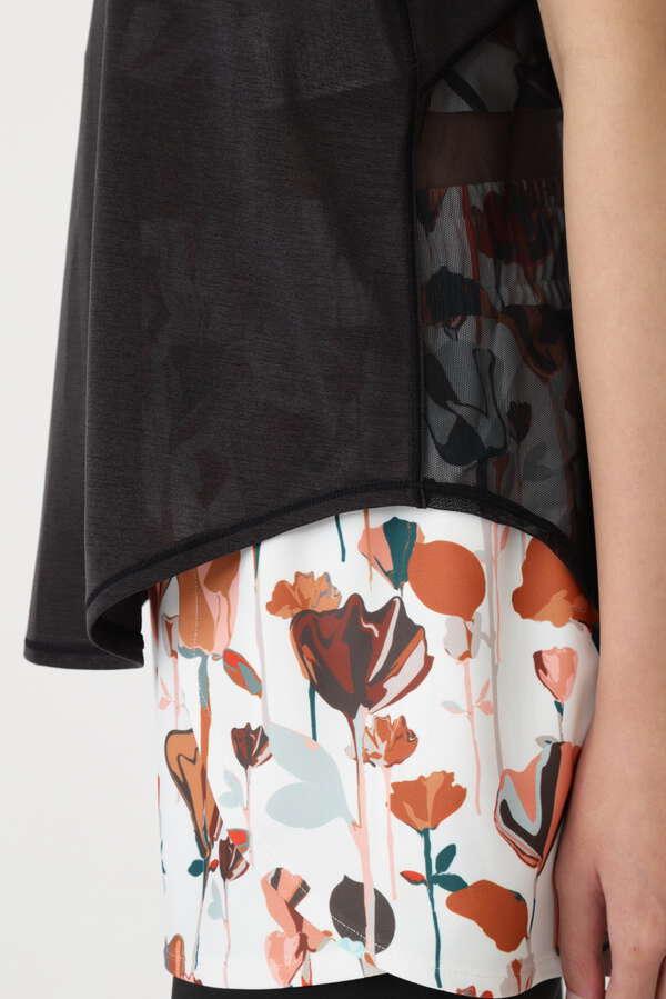 《JILLSTUART Yoga》メッシュ切替裾しぼりタンクトップ