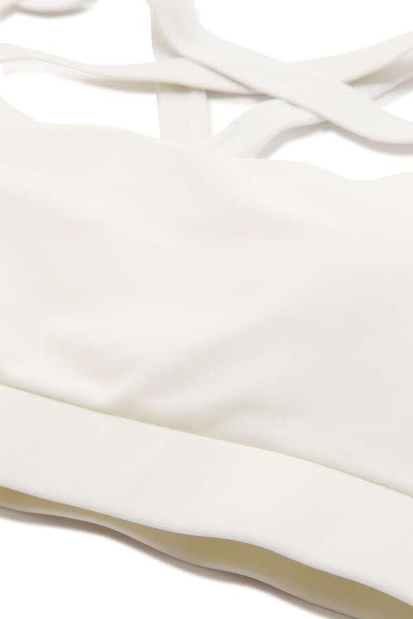 《JILLSTUART Yoga》配色フリル2Way生地カップ付きタンクトップ