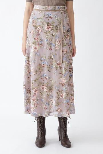 ベルベットフラワーナロースカート