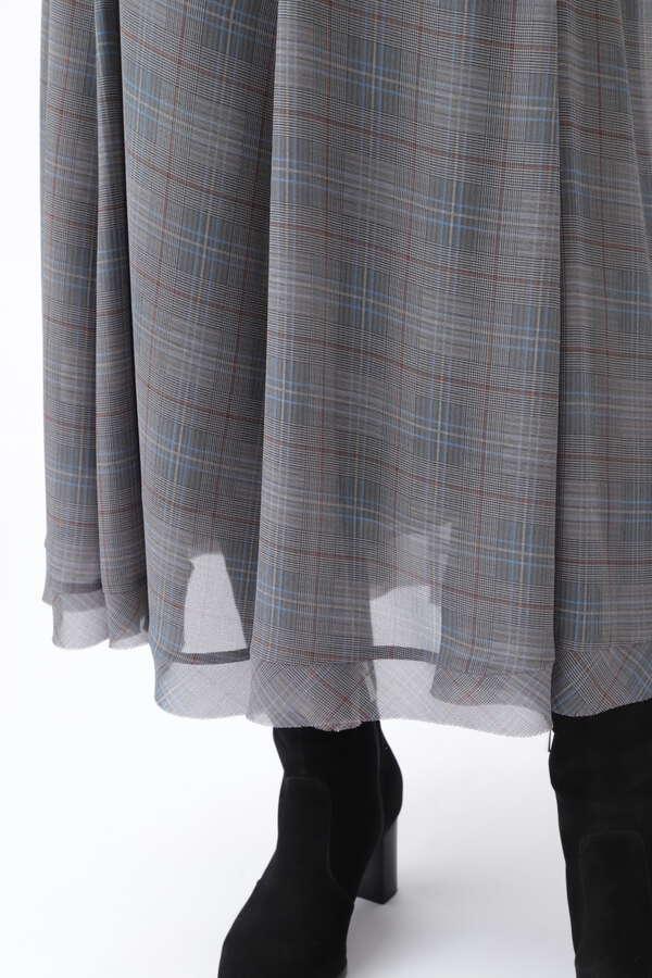 マギーチェックフレアスカート
