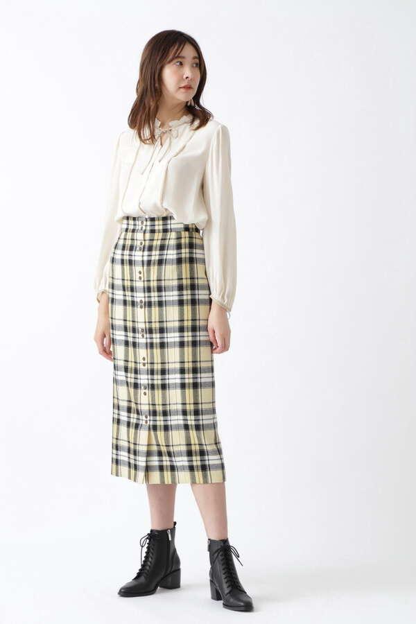 ベシーチェックタイトスカート